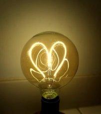 画像1: エジソン型LED電球/球状ハートフィラメント (1)