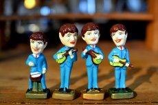 画像1: THE Beatlesビートルズ首振り人形セット (1)