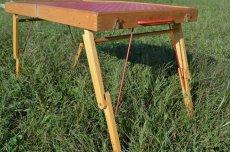 画像4: 60s木製ドット柄ピクニックテーブル (4)