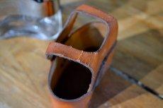 画像7: ガラススキットルS/革カバー茶 (7)