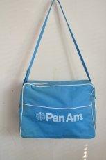 画像1: ヴィンテージPANAMパンナム・エアラインバッグ (1)