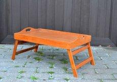 画像1: ヴィンテージ・ウッドトレーテーブル (1)