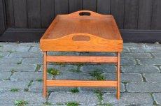 画像3: ヴィンテージ・ウッドトレーテーブル (3)