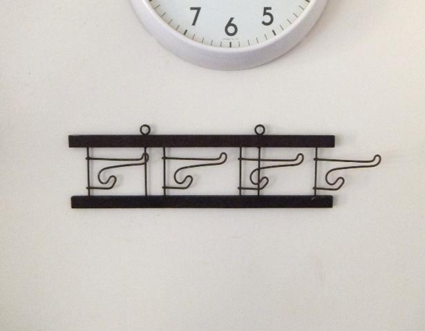 画像1: 折畳み/ウッド×ワイヤーコートハンガー (1)