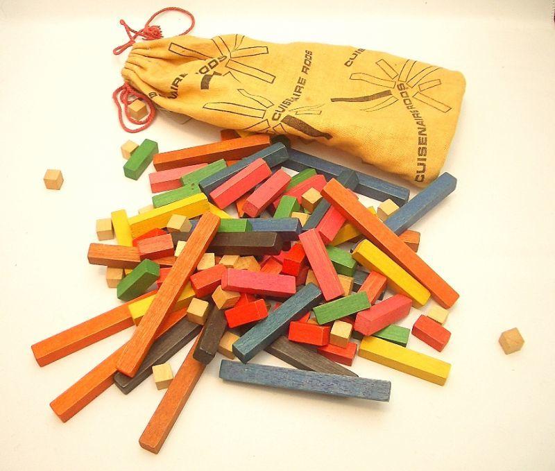 画像1: 60s知育玩具/木製積み木 (1)