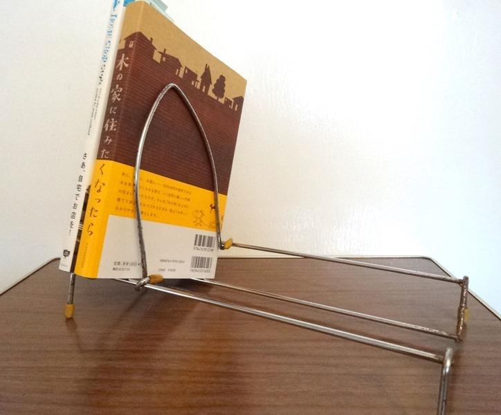 画像1: UK50s折り畳み式ワイヤーブックスタンド (1)