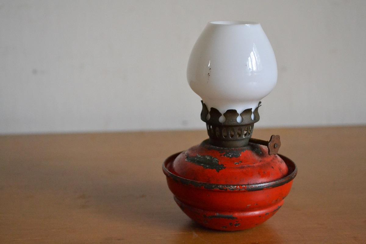 画像1: ケリーランプ/レッド×ミルクガラス (1)