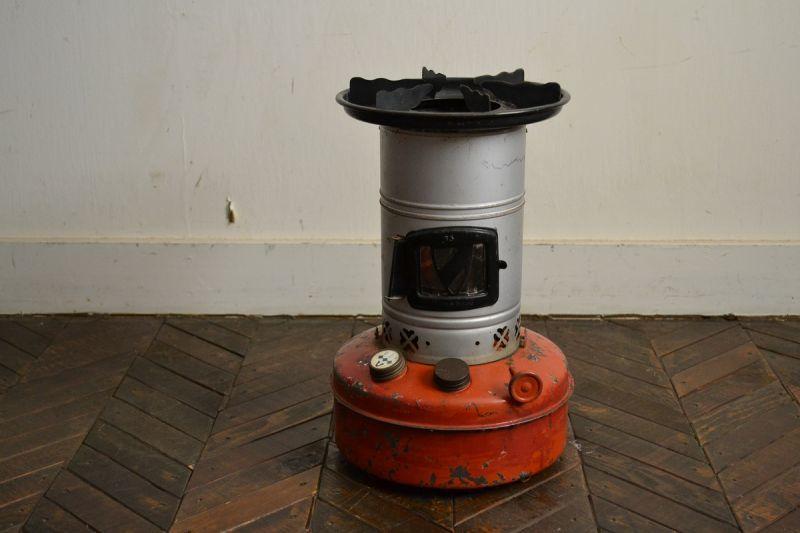 画像1: バーラー65cクッカーストーブ/オレンジ×シルバー (1)