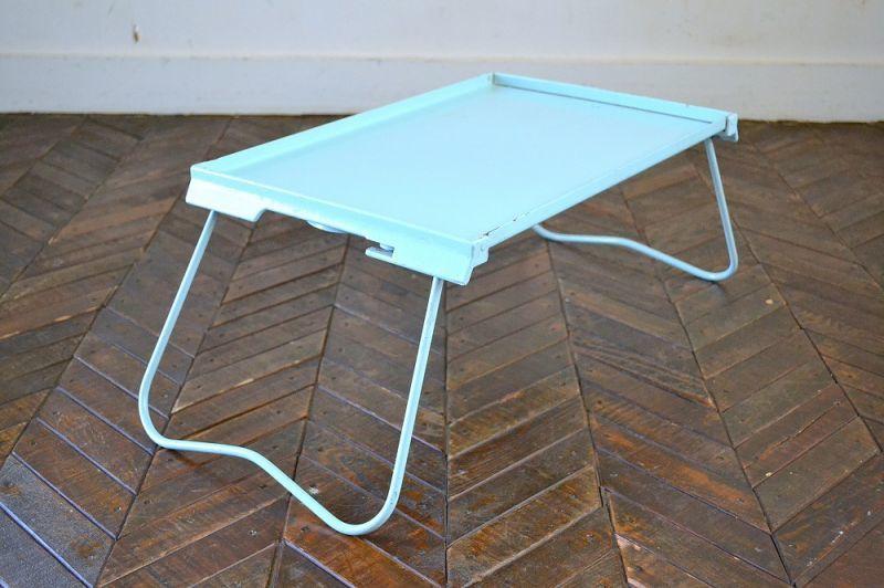 画像1: UK60sメタルピクニック・ローテーブル/ドリンクホルダー付 (1)