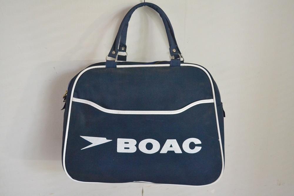 画像1: ヴィンテージBOACイギリス海外航空・エアラインバッグ (1)